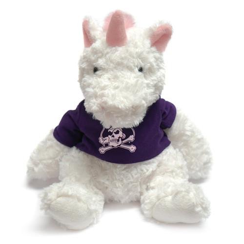 White Unicorn with ECU Tee Cuddle Buddy
