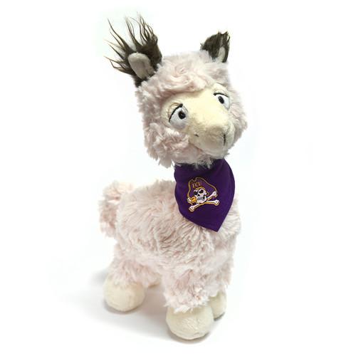 White Tony Llama with Purple ECU Bandana Cuddle Buddy