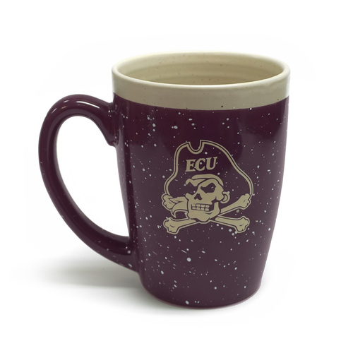 Purple Plum Speckle Jolly Roger Coffee Mug