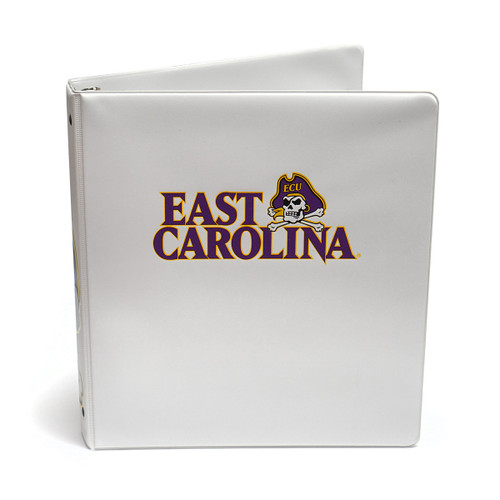 "White ECU Jolly Roger 1"" Binder"