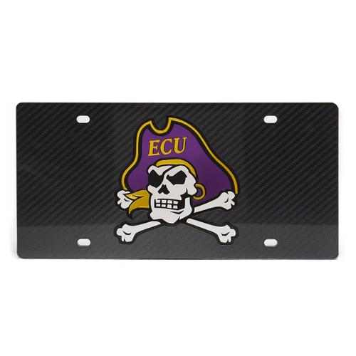 Carbon Fiber Jolly Roger  License Plate
