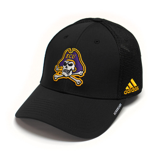 Black Mesh Jolly Roger Adidas Coaches Cap
