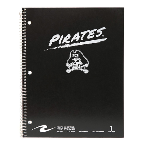 Black Painted Pirates 1 Subject Notebook