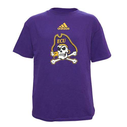 Purple Youth Jolly Roger Adidas Tee