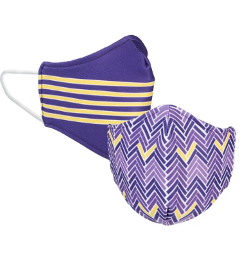 Face Mask Purple and Gold Reversible