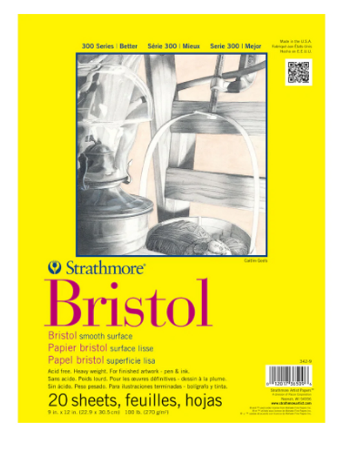 Strathmore Bristol Smooth 9x12
