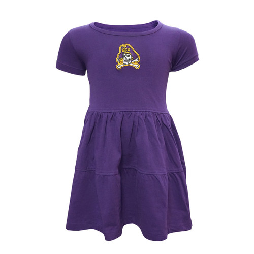 Purple Tiered Jolly Roger Infant Dress