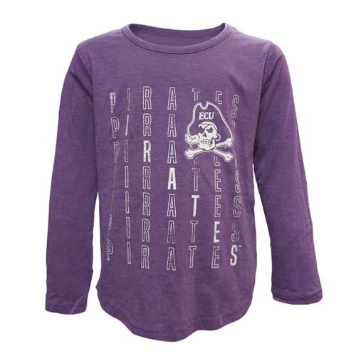 Purple Youth Girls Pirates Repeat Tee