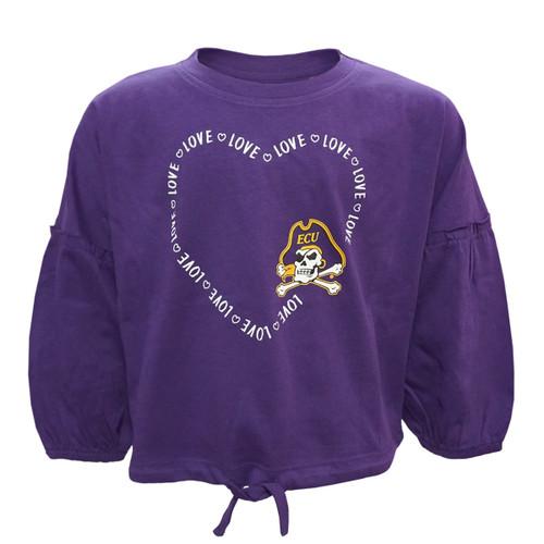 Purple Youth Poofy Sleeve ECU Love Tee