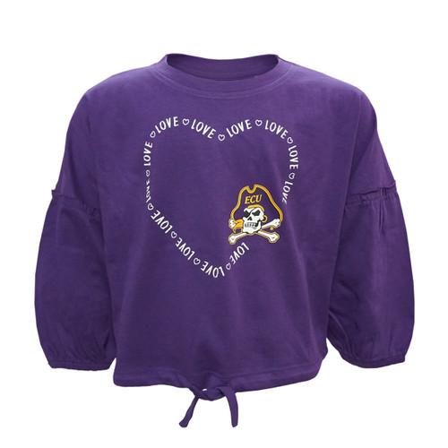 Purple Toddler Poofy Sleeve ECU Love Tee