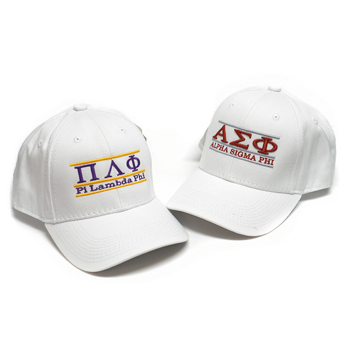 White GREEK Adjustable Caps
