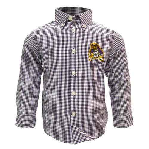 Buttondown Gingham Jolly Roger Toddler Shirt