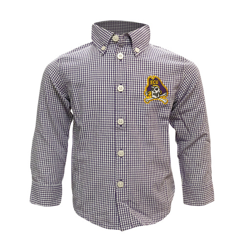 Buttondown Gingham Jolly Roger Infant Shirt