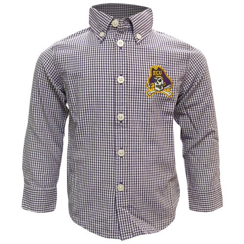 Buttondown Gingham Jolly Roger Youth Shirt