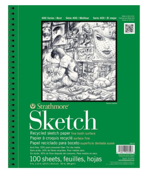 Strathmore Sketchbook 9X12