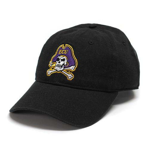 Black Jolly Roger Adjustable Cap