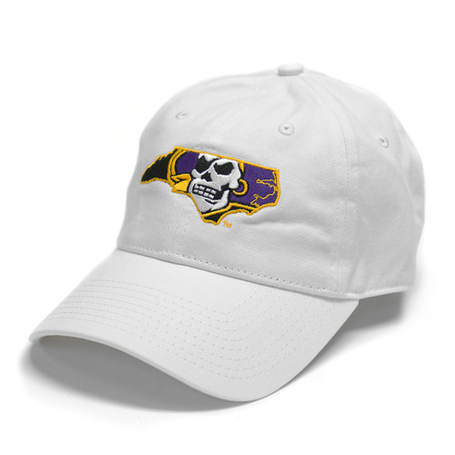 White Pirate State Of Mind Adjustable Cap