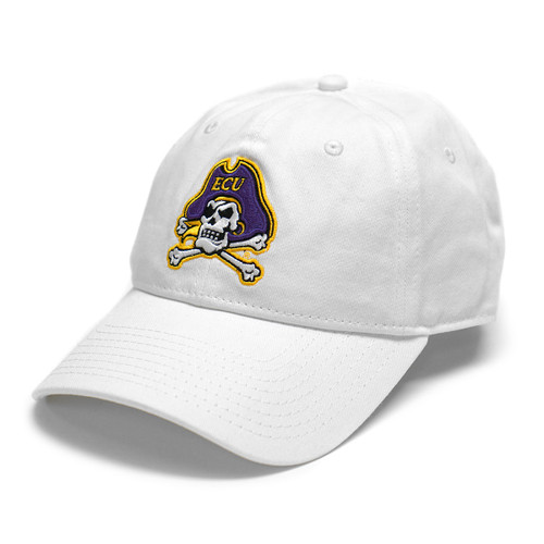 White Jolly Roger Adjustable Cap