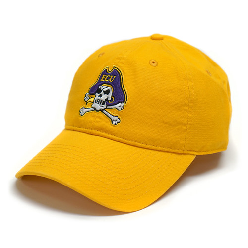 Gold Jolly Roger Adjustable Cap