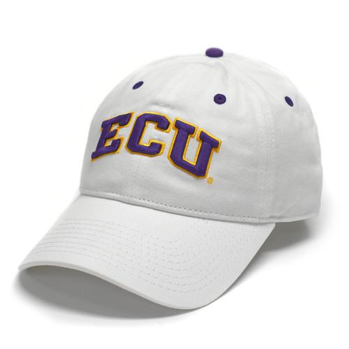 White Two Color ECU Arch Adjustable Cap