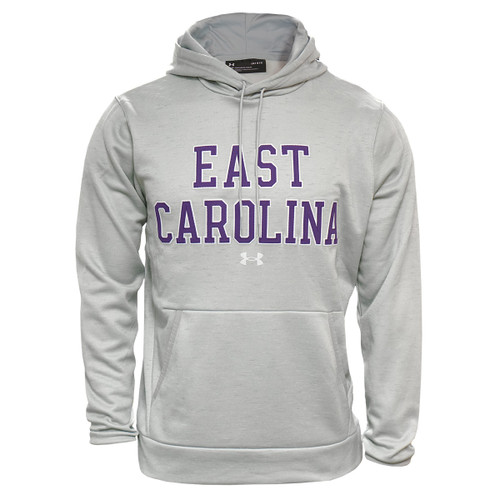 Silver Grey Under Armour East Carolina Tackle Twill Hoodie