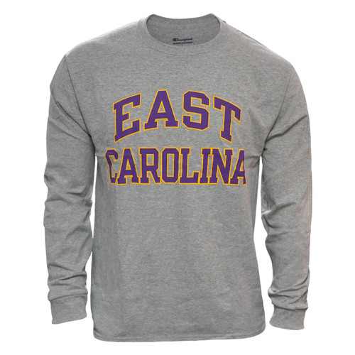 Oxford Long Sleeve Purple & Gold East Carolina Arch Tee
