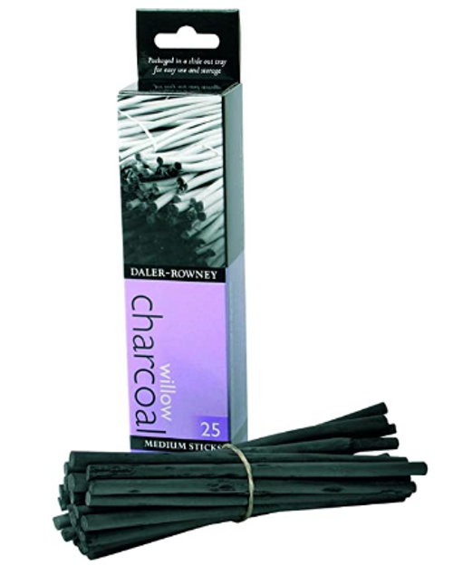 Medium Willow Charcoal 25-Pack
