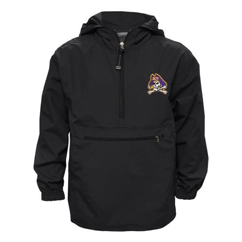 Black Youth Half Zip All-Weather Jacket