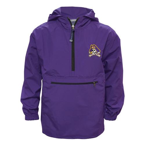 Youth Purple Half Zip All-Weather Jacket