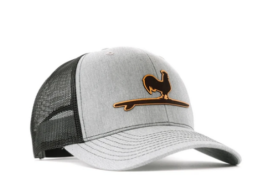 Beach & Barn Etched Leather Snapback