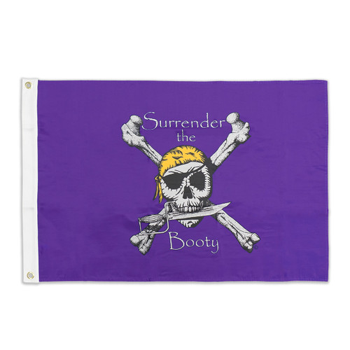 Purple  & Gold Surrender the Booty Flag