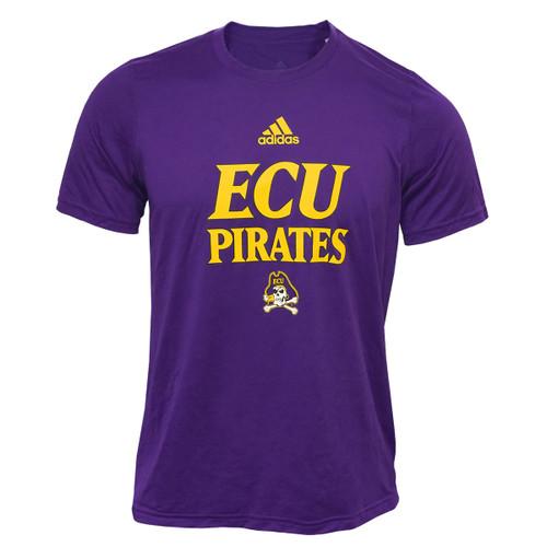 Purple Adidas ECU Pirates Athletic Tee