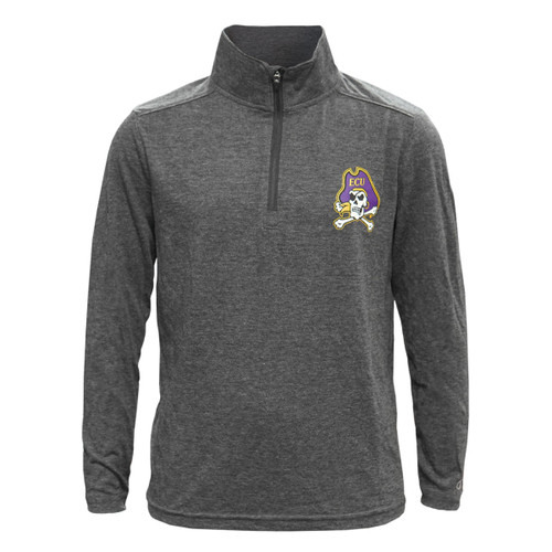 Charcoal Quarter Zip Jolly Roger Youth Pullover
