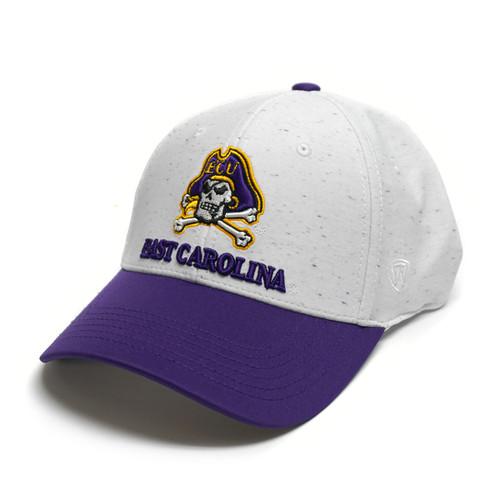 White & Purple East Carolina One Fit Cap