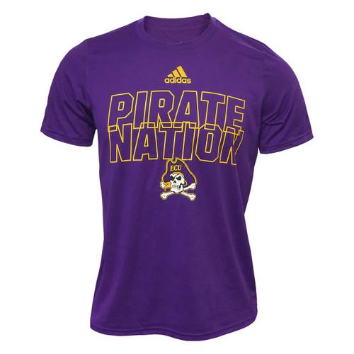 Purple Adidas Pirate Nation Jolly Roger Tee