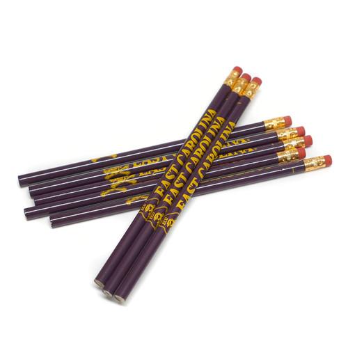 Purple & Gold ECU Pencil - 8 Pack