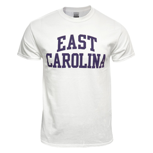White & Purple East Carolina Rainbow Tee