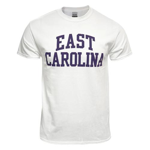 White & Purple East Carolina Rainbow Tee