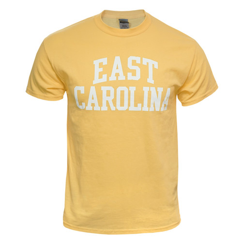Butter Yellow East Carolina Rainbow Tee