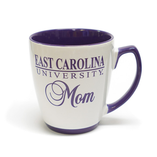 White & Purple ECU Mom Bar Mug