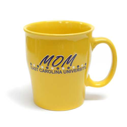 Yellow ECU Mom Polka Dot Coffee Mug