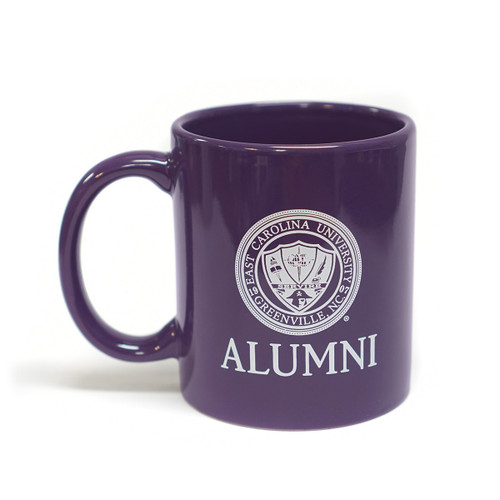 Purple ECU Alumni Seal Coffee Mug