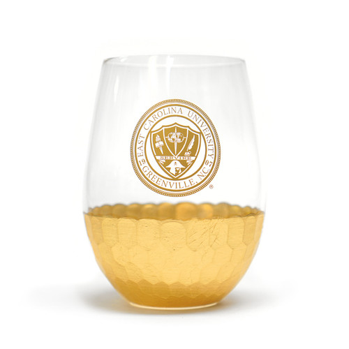 Gold Bottom Stemless ECU Seal Wine Glass
