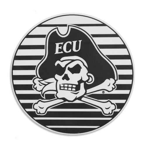 Black & White Sun Stripe Jolly Roger Decal