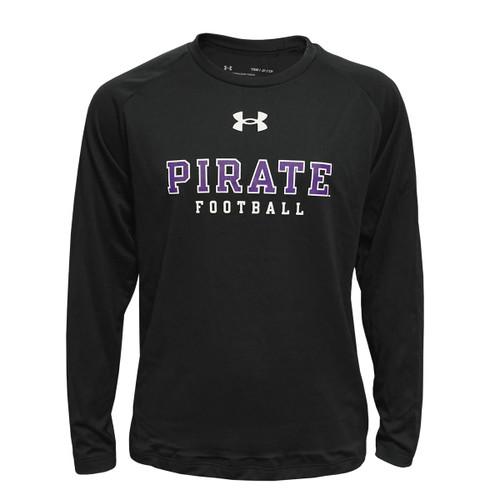 Black Pirate Football Youth HeatGear Tee