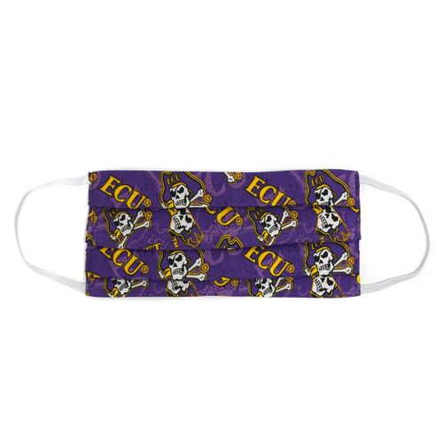 Purple ECU Multi Logo Facemask
