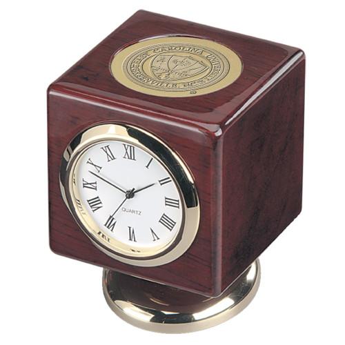 Rosewood ECU Desk Clock
