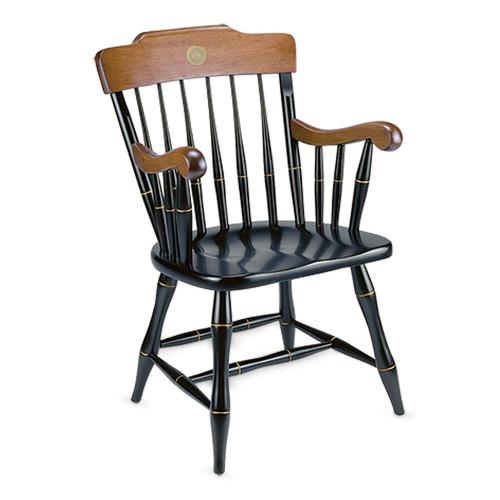 ECU Medallion Black & Cherry Captains Chair