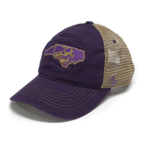 Purple & Tan Pirate State of Mind Trucker Cap