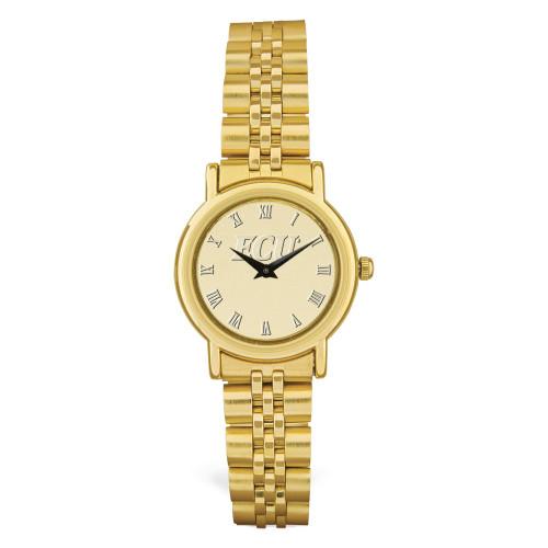Gold ION ECU Medallion Ladies Wristwatch